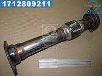 ⭐⭐⭐⭐⭐ Вставка вместо катализатора ВАЗ 2110 с виброкомпенсатором с оригин. литым фланцем (производство  Экрис)  2110-1206011