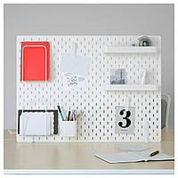 IKEA SKADIS (292.173.77) Перфорированная доска, белая 76x56 см