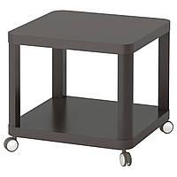 IKEA TINGBY (003.494.44) Стол на колесах серый, 50x50 см