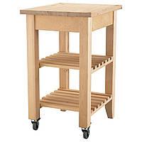 IKEA BEKVAM (302.403.48) Сервировочный столик, береза, 58x50 см