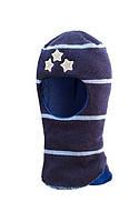 Шапка-шлем для  мальчиков Три звезды (зима)
