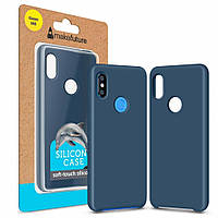 Чехол для моб. телефона MakeFuture Silicone Case Xiaomi Mi8 Blue (MCS-XM8BL), фото 1