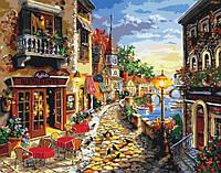 Картина по номерам Приморский бульвар 40х50 см Идейка KH2132(в подарочной коробке)