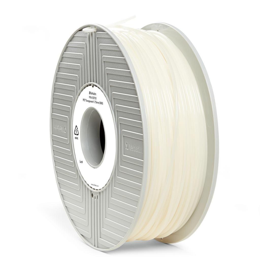 Пластик для 3D-принтера Verbatim PET 1.75 mm TRANSPARENT 0,5kg (55751)