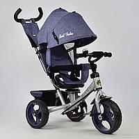 Детский Велосипед трехколесный 5700 - 3760 ДЖИНС СИНИЙ