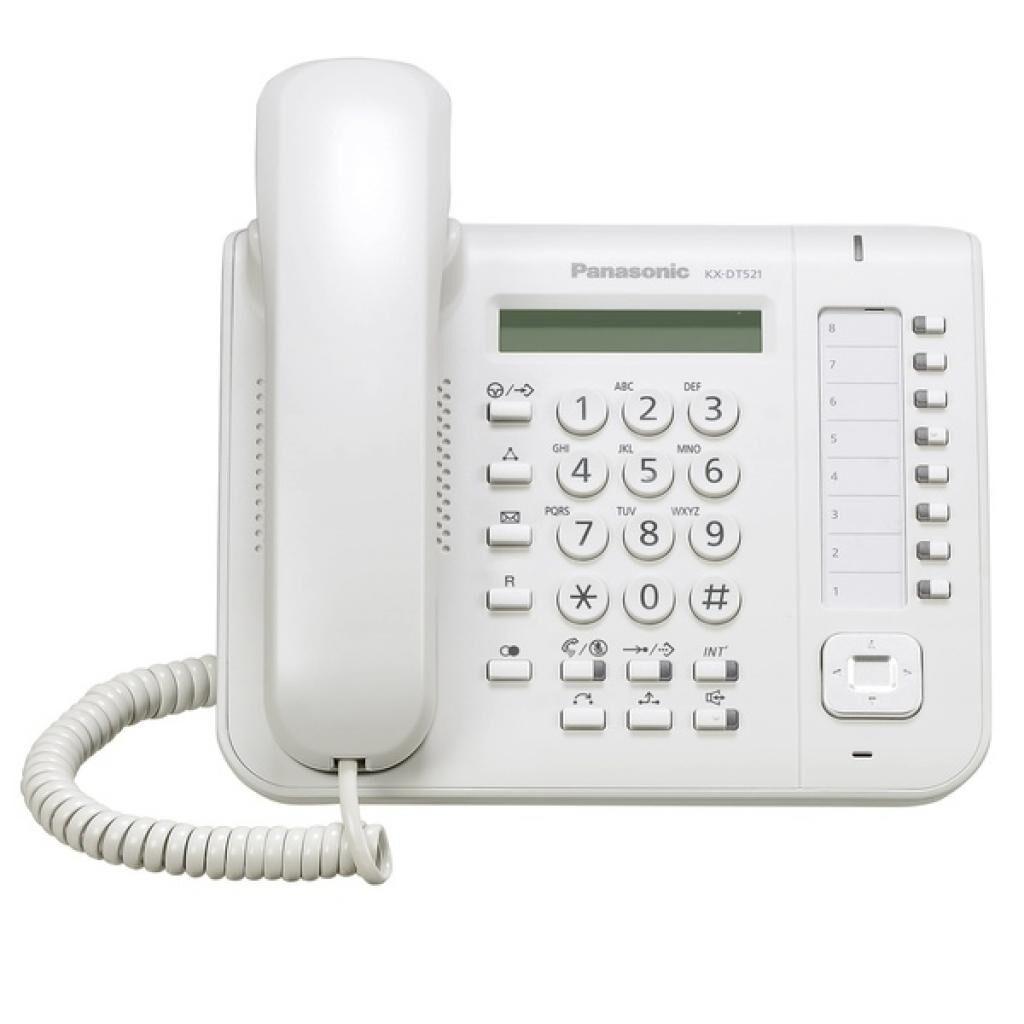 Телефон PANASONIC KX-DT521RU White (KX-DT521RU)