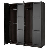 IKEA PAX (990.960.13) Шкаф/гардероб, черный брит, Небрежный черный