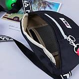 Женская бананка FILA поясная сумочка фила черная, фото 3