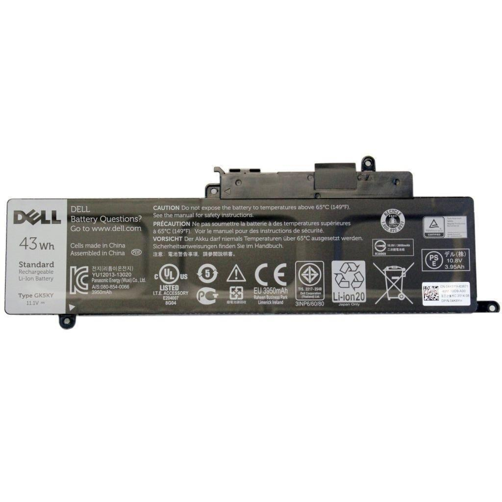 Аккумулятор для ноутбука Dell Inspiron 11-3147 GK5KY, 43Wh (3950mAh), 3cell, 11.1V, Li-ion (A47303)