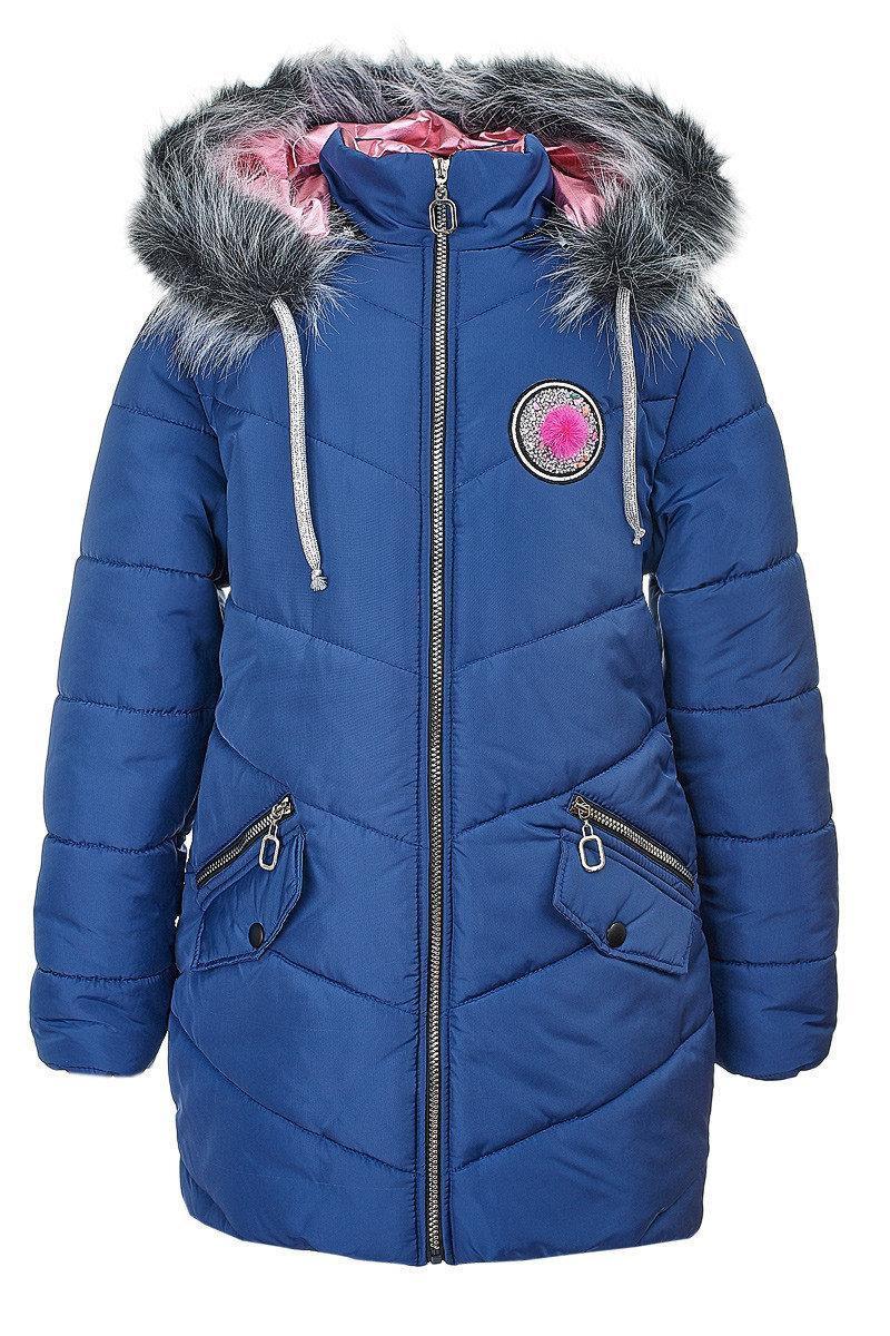 Зимняя куртка на девочку курточка детская зима 152р синяя