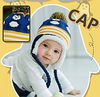 Шапка детская осень зима шапка дитяча осінь зима