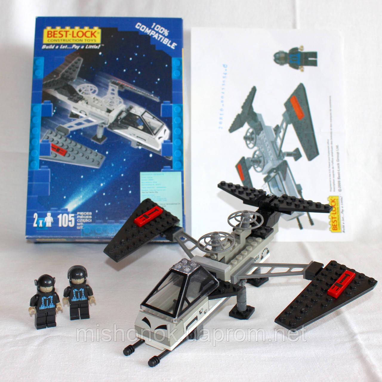 Конструктор Best-Lock, Космолет-истребитель, серия Star Space, 105 деталей