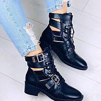 Ботинки женские на низком каблуке, фото 1