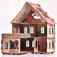 Великий дерев'яний ляльковий будиночок Веселя Оселя Sakura