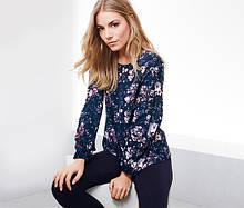 Яркая стильная блуза,блузка из крепа от тсм Tchibo (чибо), Германия, размер от 42 до 52