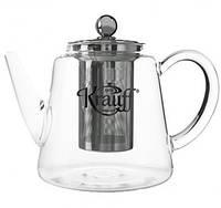 Чайник-заварник стеклянный 800 мл Krauff, фото 1