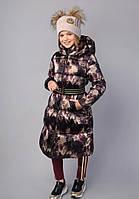 Пальто для дівчинки, з капюшоном тм Моне р-ри 128