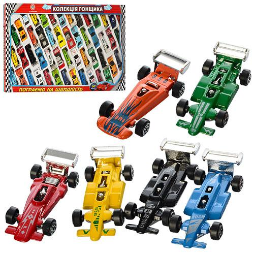 Коллекция гонщика металл 92753-50 SA 50 машинок в коробке