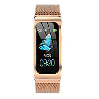 Жіночі розумні годинник Smart Mioband PRO Gold (магнітна застібка)