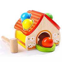 Деревянная развивающая игрушка домик-стучалка Top Bright