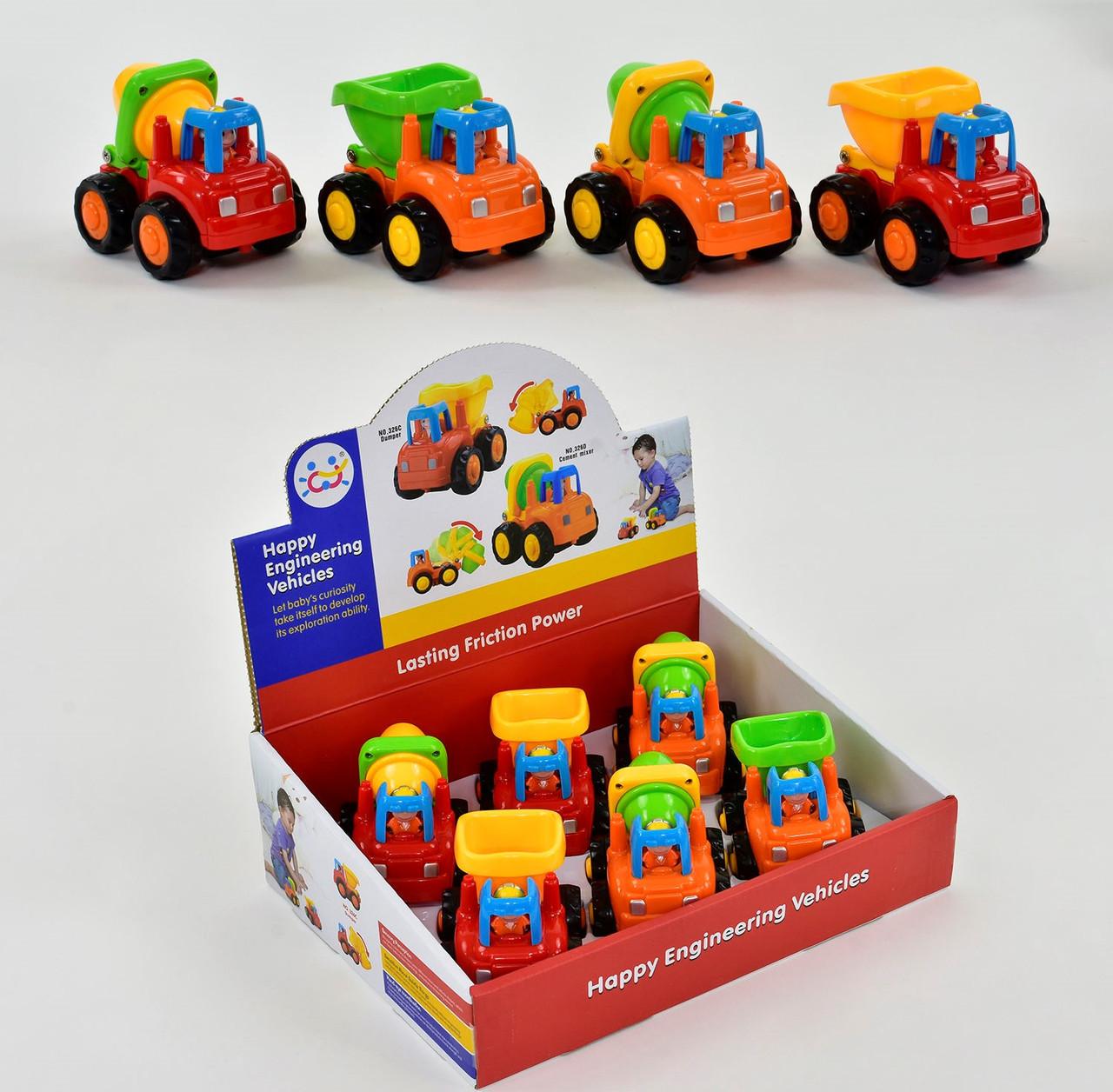Набор стройтехники 326 CD с инерционным механизмом набор детских машинок