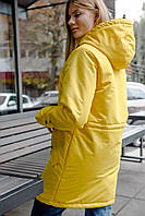Куртка Пальто женская зимняя -до 30*С / парка ЛЮКС качества желтая