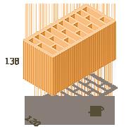 Керамический блок Керамейя ТеплоКерам 2.12 нф м125