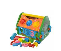 Деревянная развивающая игрушка многофункциональный домик