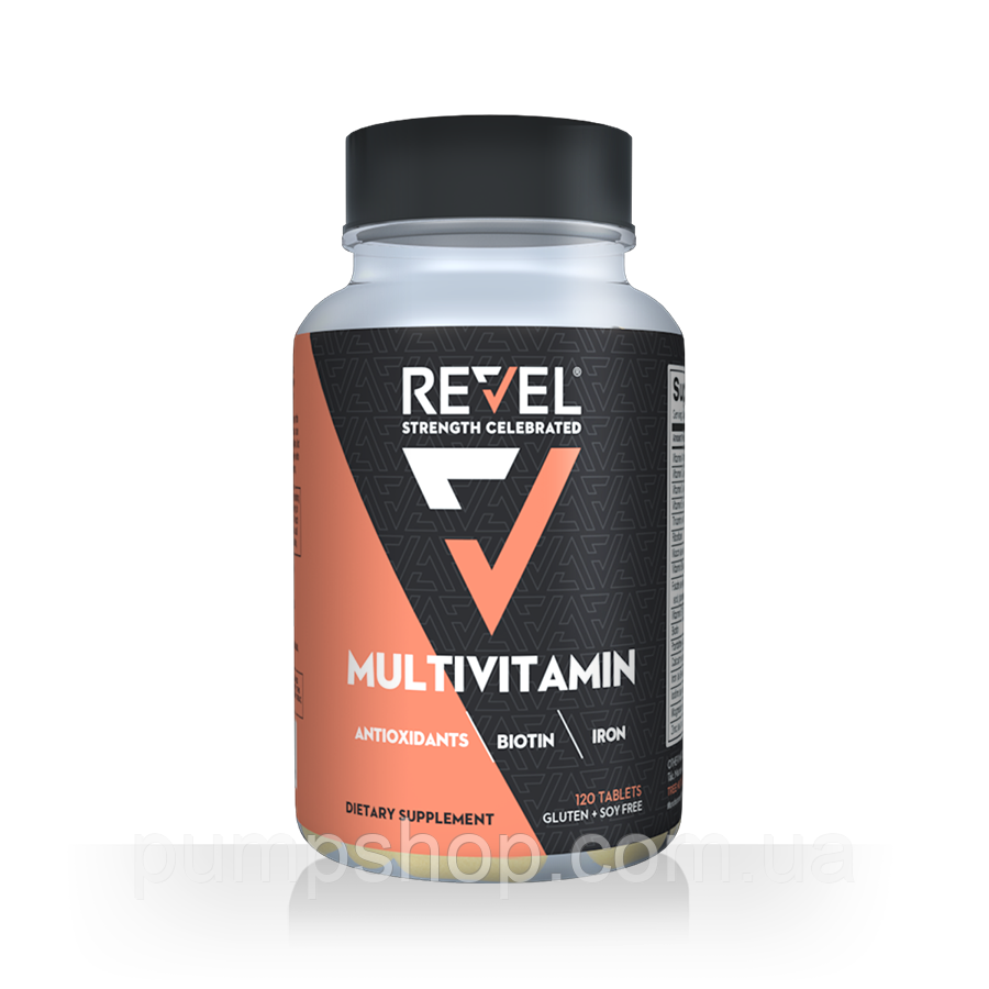 Витамины для женщин Revel Women`s Multivitamin Biotin Collagen Antioxidants 120 капс.