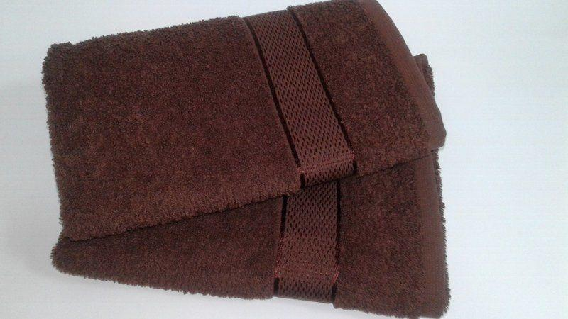 Махровое полотенце 40х70 см для лица, 400 г/м, Узбекистан, шоколадного цвета