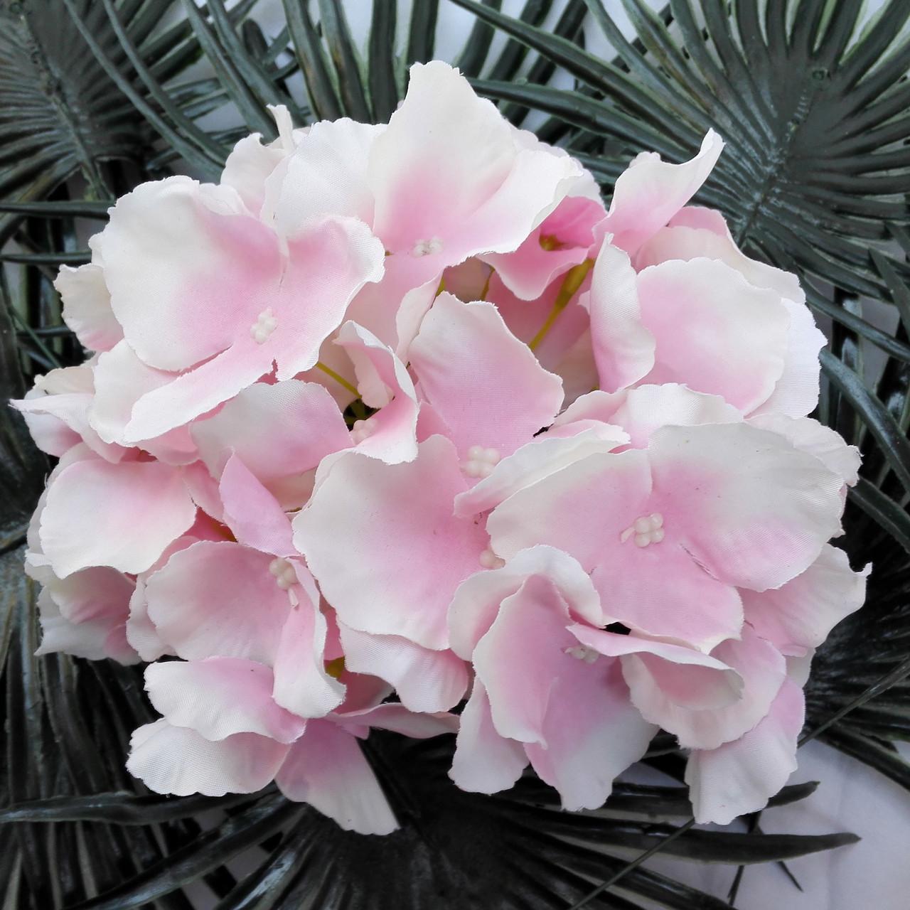 Головка гортензии нежно розовая, 18 см