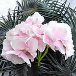 Головка гортензии нежно розовая, 18 см, фото 2