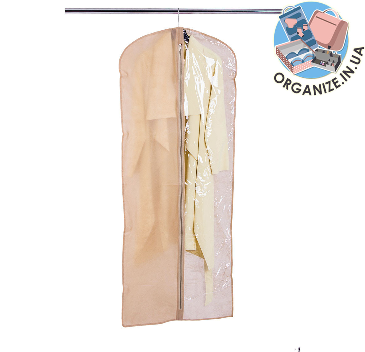 Кофр для одежды 60*150 см (бежевый)