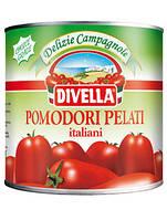 Помидоры  консервированные микадо ( без кожыцы )  в собственном соку Пелати DIVELLA 2.5кг