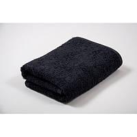 Махровое полотенце 40х70 см для лица, 400 г/м, Узбекистан, черного цвета