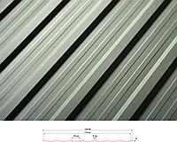 Профнастил фасадный Т-15 (цвет 9006 металлик   - глянец) металл Модуль Украина 0,45 мм