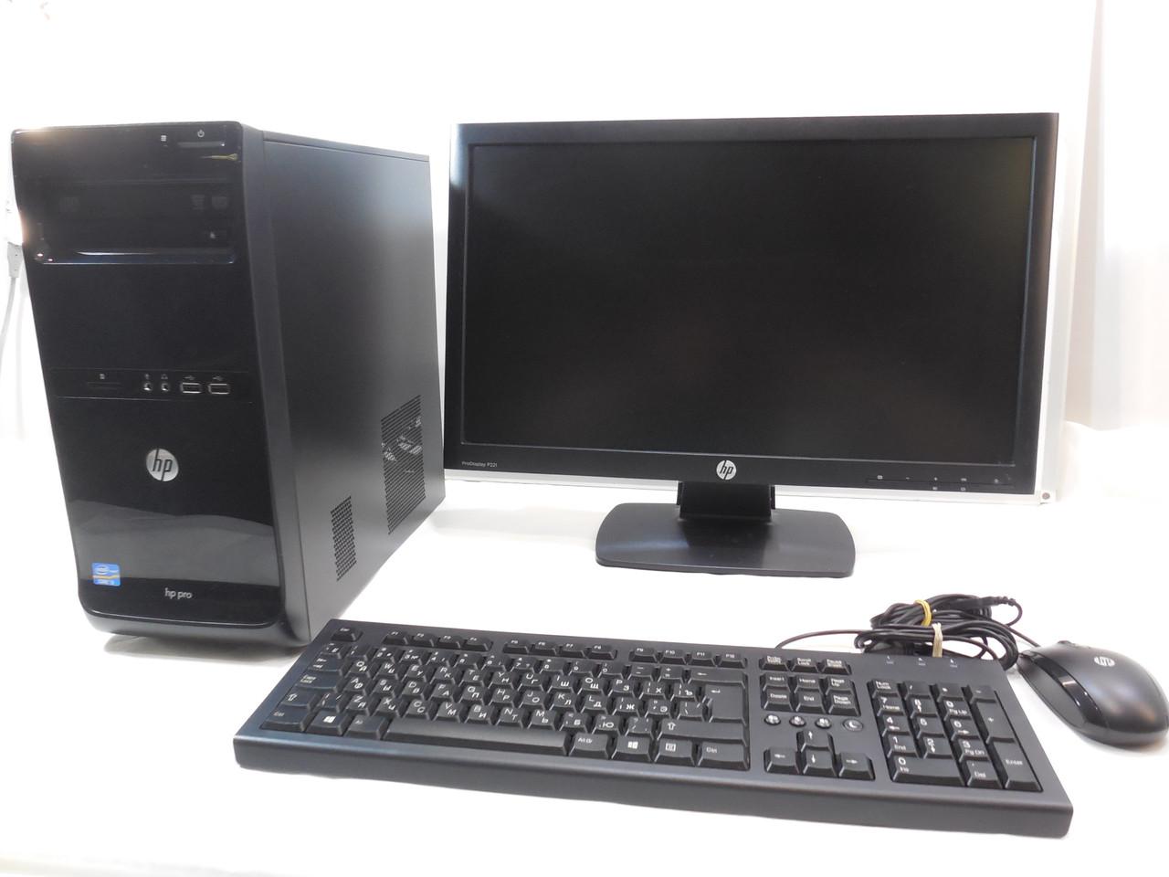 Компьютер в сборе, Intel Core 2 Quad 4x2.4 Ггц, 6 Гб ОЗУ DDR3, 320 Гб HDD, монитор 22 дюйма