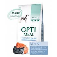 Сухой корм OPTIMEAL (Оптимил) гипоаллергенный, для собак крупных пород с лососем 12КГ
