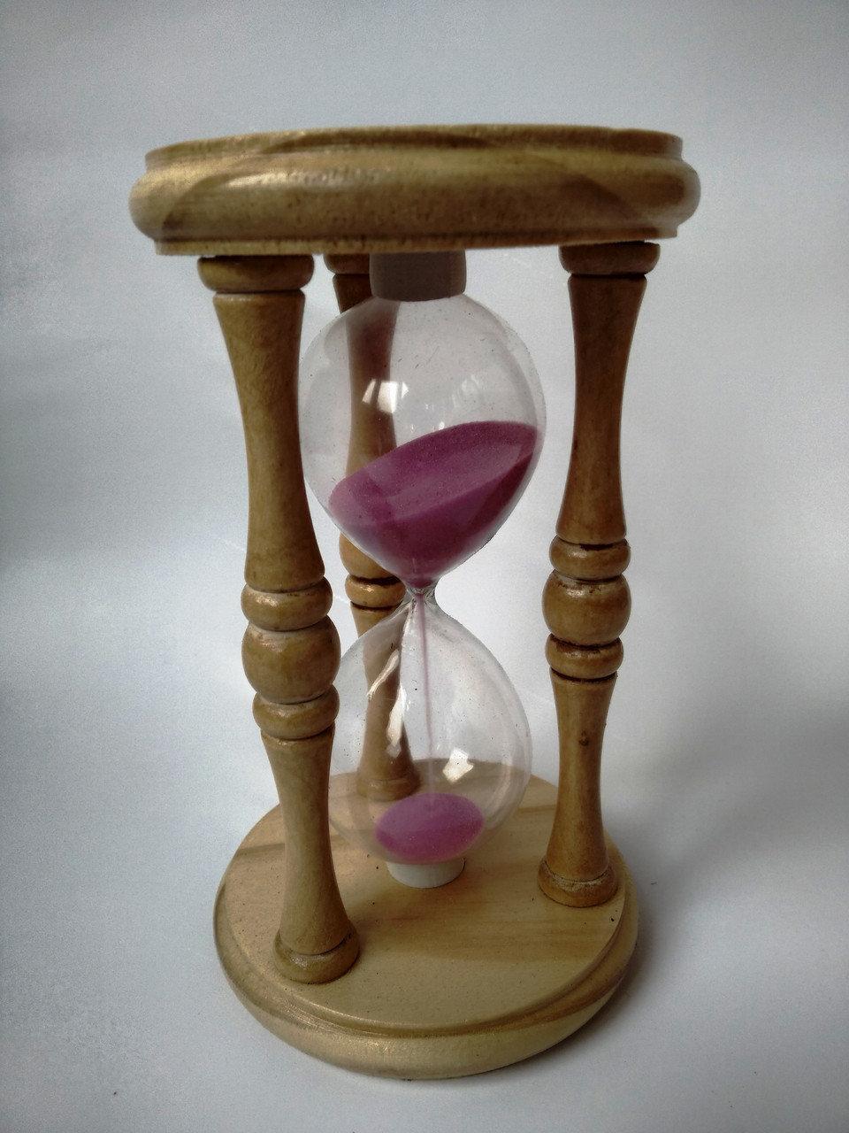 Песочные часы декоративные деревянные 17 см