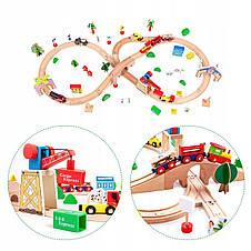 Деревянная детская железная дорога Ecotoys, фото 3