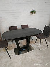 Стол обеденный OTTAWA  (140+(40)*85*76 керамика) коричневый графит, фото 3