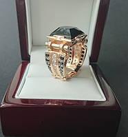 Золотой перстень мужской Черный принц