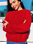 Женский теплый шерстяной вязаный свитер  (в расцветках), фото 2
