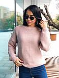 Женский теплый шерстяной вязаный свитер  (в расцветках), фото 3