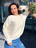 Женский теплый шерстяной вязаный свитер  (в расцветках), фото 4