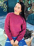 Женский теплый шерстяной вязаный свитер  (в расцветках), фото 5
