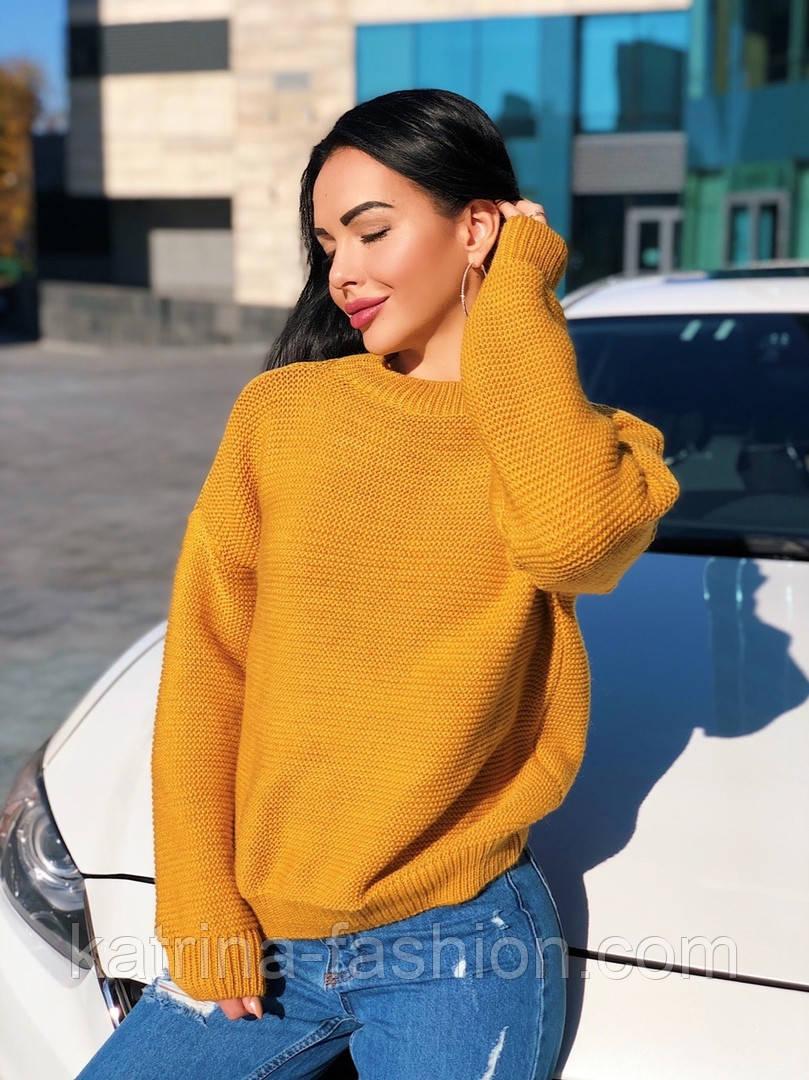 Женский теплый шерстяной вязаный свитер  (в расцветках)