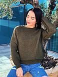 Женский теплый шерстяной вязаный свитер  (в расцветках), фото 7