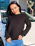 Женский теплый шерстяной вязаный свитер  (в расцветках), фото 10