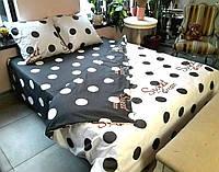 Комплект постельного белья сатин - дуэт -полуторка, двуспальные,евро оптом и в розницу S909